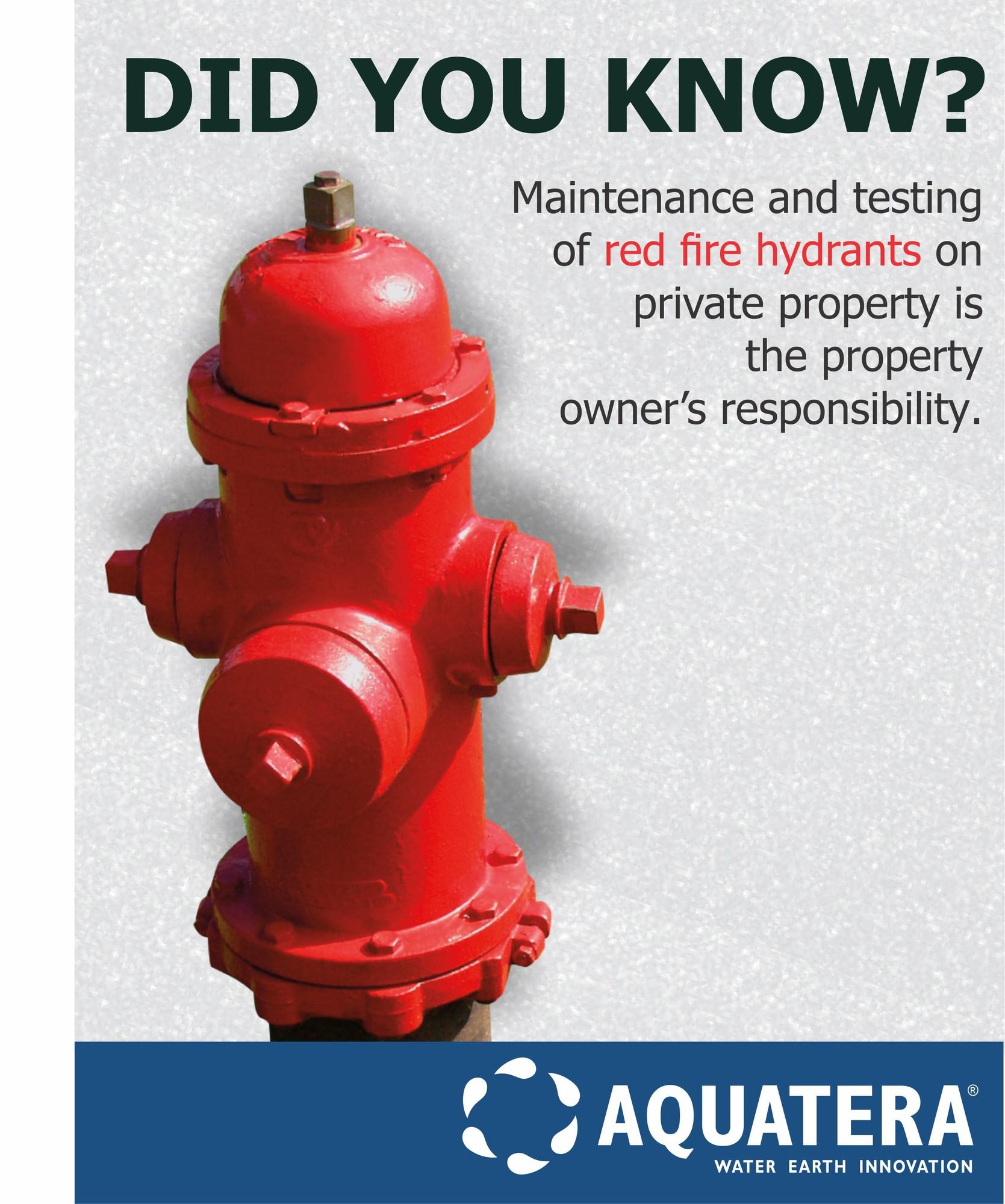 hydrant repair and maintenance aquatera