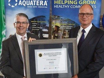Aquatera wins the International Continuous Improvement Excellence Award for North America