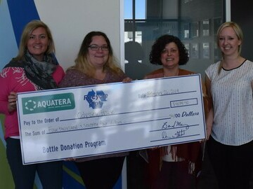 Aquatera Bottle Donation Program Recipients Selected